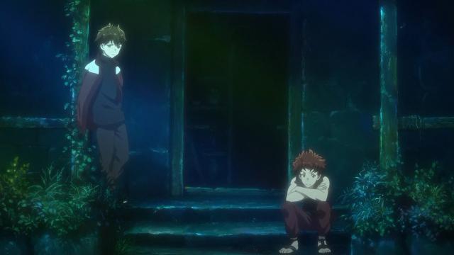 Ranta está em posição defensiva da mesma forma que quando o Haruhiro foi conversar com a Mary