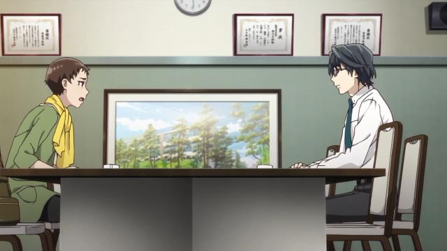 Makoto e Kusakabe discutem