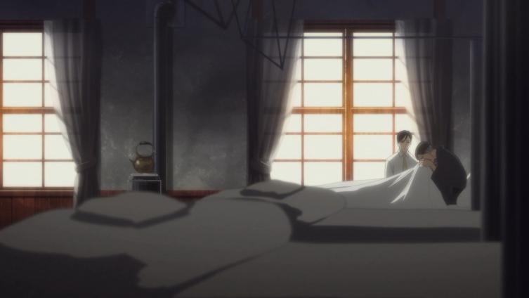 Mestre Yakumo no leito de morte