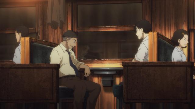 No trem, falando sobre o Sukeroku