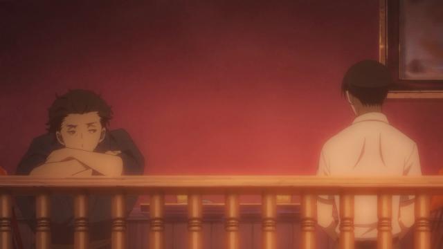 No bar, a separação (bônus: Yakumo dá as costas para a nova cultura)