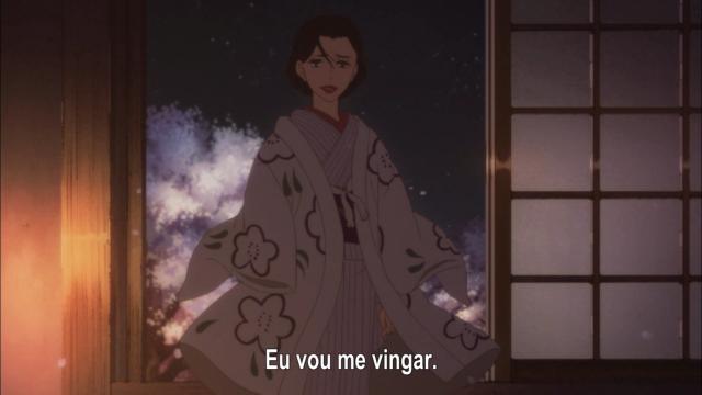 Quando Yakumo se despede de Miyokichi