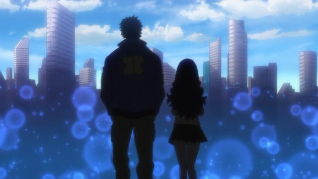 A despedida entre Kyouma e Miyabi
