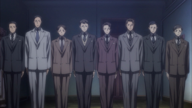 Todos compraram exatamente o mesmo modelo de terno, variando apenas a cor e o tamanho