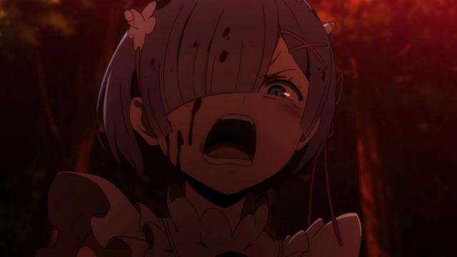 A Rem estava com sangue no zóio. Literalmente