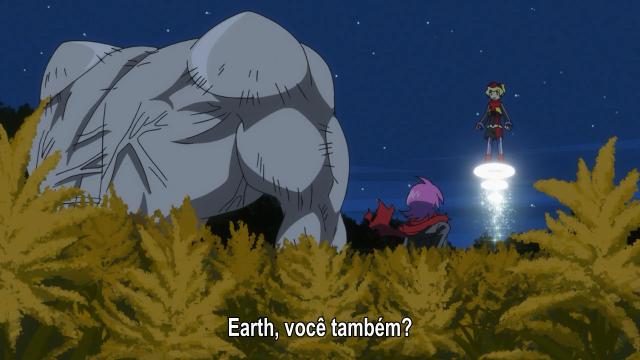 Earth-chan surge para impedir o Homem-humano, ainda que Jirou estivesse lá para ajudá-lo