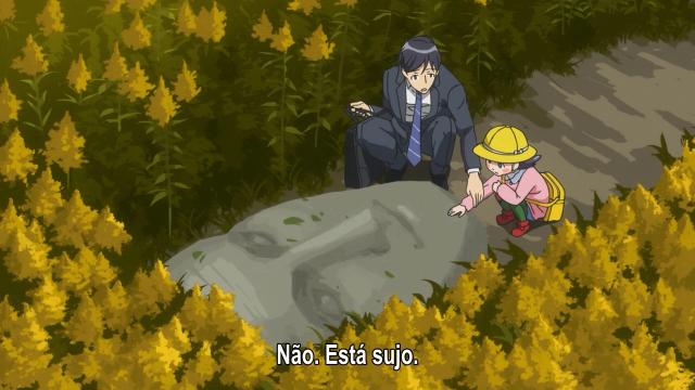 Wakamura e Yuko no meio do campo de canada goldenrod