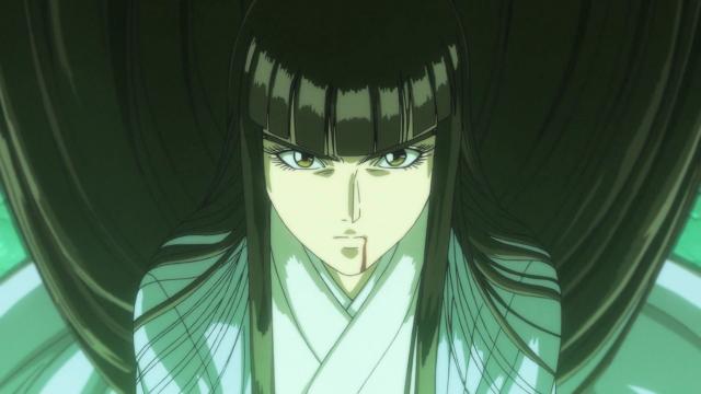 A mãe de Ushio depois do Hakumen se libertar