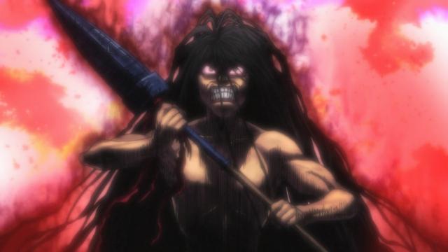 Ushio se transforma em um monstro de fúria