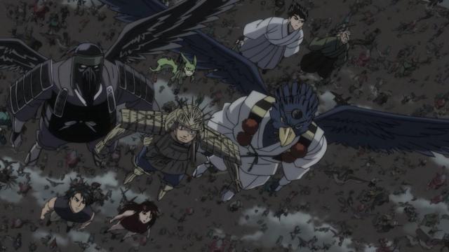 O exército de monstros com Ushio à frente: é vencer ou vencer
