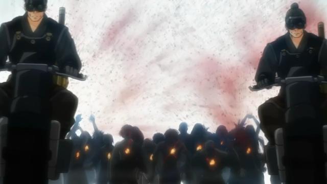 Os cavaleiros do apocalipse Libertadores conduzem os kabanes para dentro da cidade