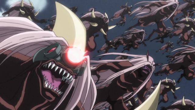 O exército de Hakumen no Mono