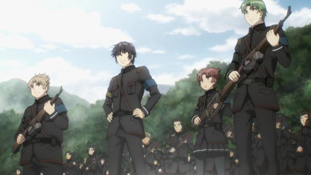 Ikuta, Tolway, Mathew e Suuya aguardam triunfantes a chegada dos inimigos em posição privilegiada