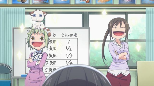 Oh não, a professora também é um alien com cabeça super deformed