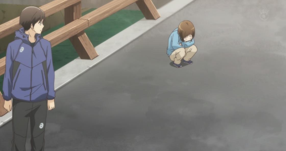 O irmão sofrendo com o vento, pois sua saúde é frágil. Mais tarde, Takumi fala que Seiha não está apto para jogar, pois só um vento o deixa mal.