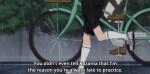 """""""Por que você nem contou ao Kazama que eu era a razão por você sempre chegar tarde ao treino?"""""""