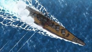 O Harekaze descarrega toda sua artilharia no Musashi: inefetivo