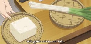 Eles fezeram com cebolinha e tofu.