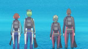 Por enquanto Futaba só pode ver as costas da Hikari