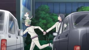 Hikari e Futaba fogem da veterana furiosa!
