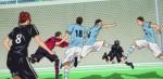 Substituíram o Ooshiba pelo Tsukushi e deram um chute na cara dele na hora que foi dar uma cabeçada na bola.