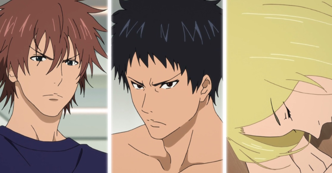 Ooshiba Kiichi, Mizuki Hisahito e Kazama Jin.