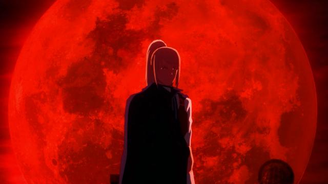 Artorius, logo após matar o irmão de Velvet - e ela estava vendo