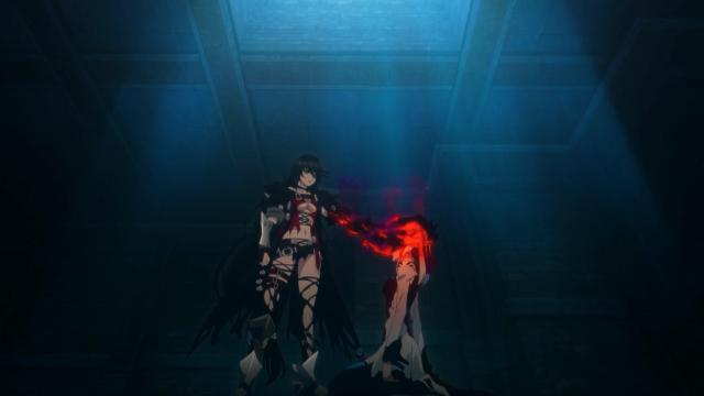 """Velvet """"devora"""" Seres a pedido dela após ser mortalmente ferida protegendo a protagonista do dragão"""