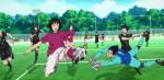 Porém, quando ele foi chutar para o gol, Narukami defendeu.