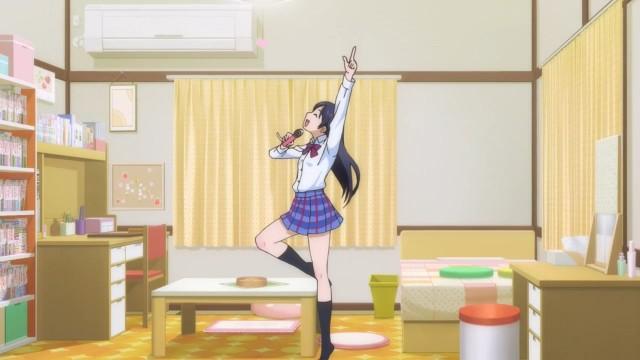 A cena da Umi sendo fragada cantando é muito engraçada.