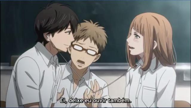 Hagita juntando Kakeru e Naho e mantendo o personagem para parecer ter sido sem querer