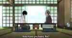 A partida entre Kiriyama e seu pai adotivo.