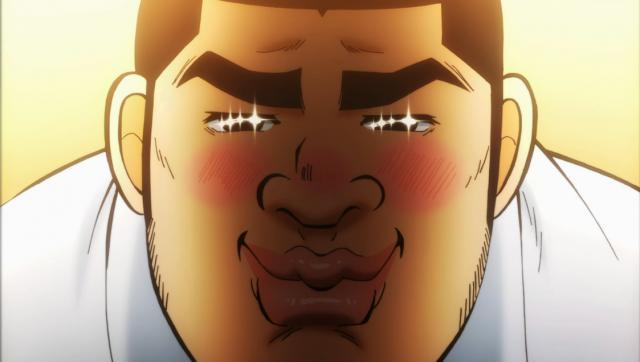 Takeo e seu olhar apaixonado.