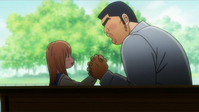 Yamato e Takeo demonstrando o seu amor da forma deles, bem desajeitados.