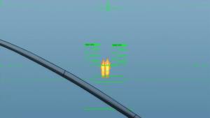 Através da interface do aparelho, é possível ver quem está se aproximando.