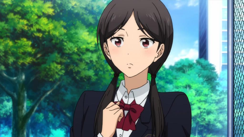 A garota que entregou a latinha de refrigerante para Inoue, obviamente, ficou com cara de tacho.