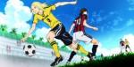 E a disputa pela posse de bola entre Taira e Kazama.