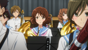 De muito longe a Kumiko consegue perceber que há algo de estranho com a Asuka.