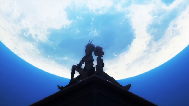 A donzela e seu cavaleiro.