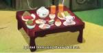 Na noite de Obon, de fato, as irmãs prepararam o jantar da avó e da mãe.