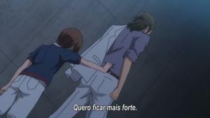 Para encontrar seu irmão, Hanasaki acredita que deve se tornar mais forte.