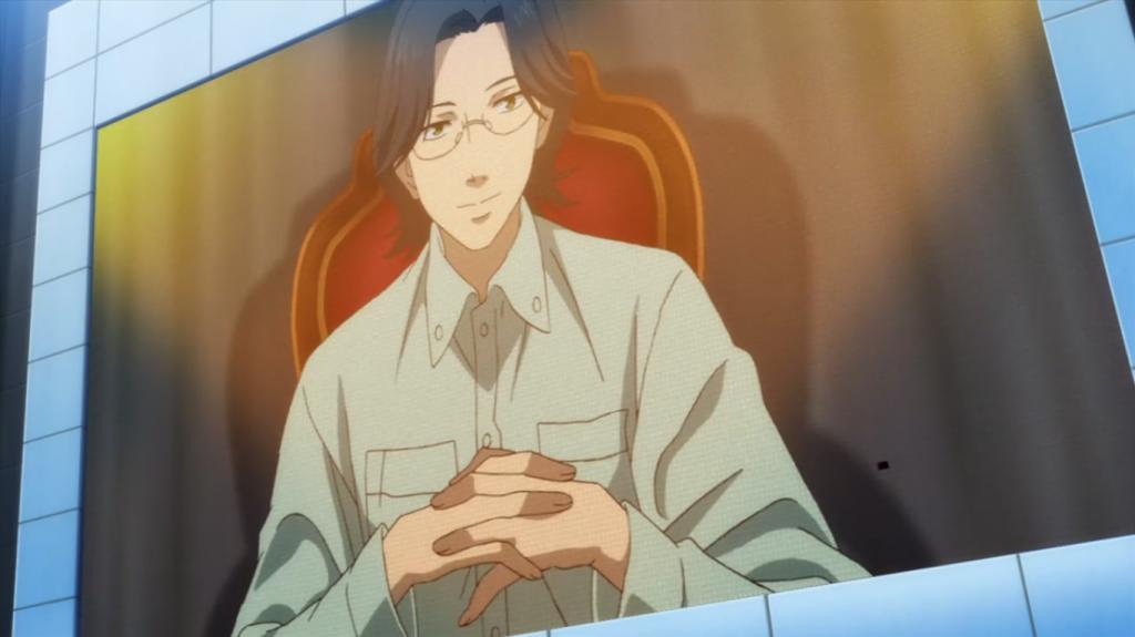 É revelado que o homem que fez este discurso é irmão de Hanasaki.