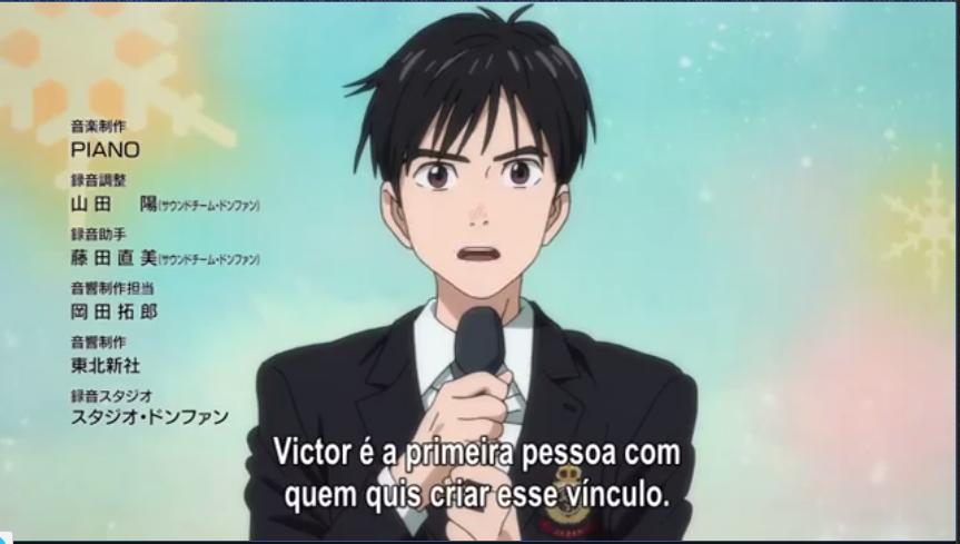 Os sentimentos de Yuri são ocultos, porém a existência de Victor neles nãp é