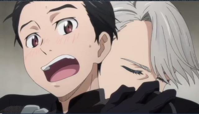 Tão grande era a tensão de Yuri que o próprio Victor se pôs a acalmá-lo,