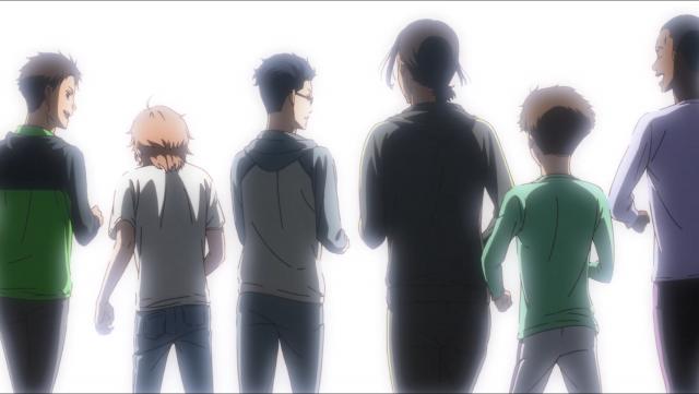 Tão rápido que é, Kakeru sempre esteve na frente. Essa deve ter sido a primeira vez que prestou atenção às costas de seus colegas de equipe