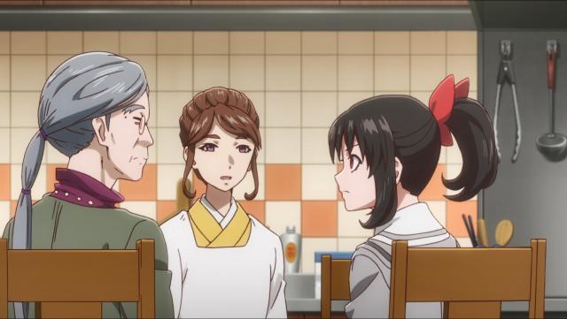 A mãe de Asuka tenta explicar para ela que não precisa decidir o resto de sua vida tão jovem
