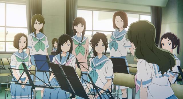 Nozomi e as demais flautistas