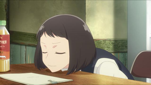 Koyomi não está feliz com o final da peça que escreveu