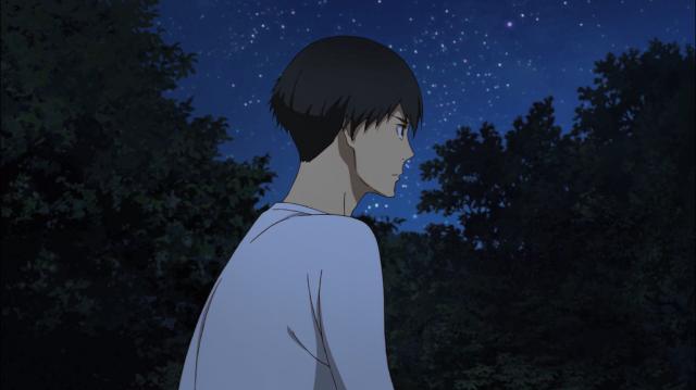 Kakeru está pensativo, com medo de prejudicar seus amigos ao agir por impulso de novo