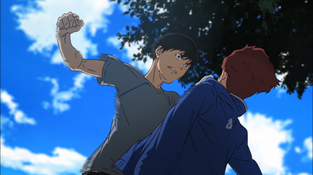 Kakeru ameaça dar o soco que o Sakaki merecia levar